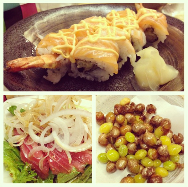 Kai-Japanese-sushi-nuts-tuna-salad
