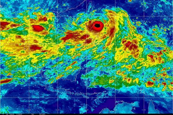 typhoon satellite image