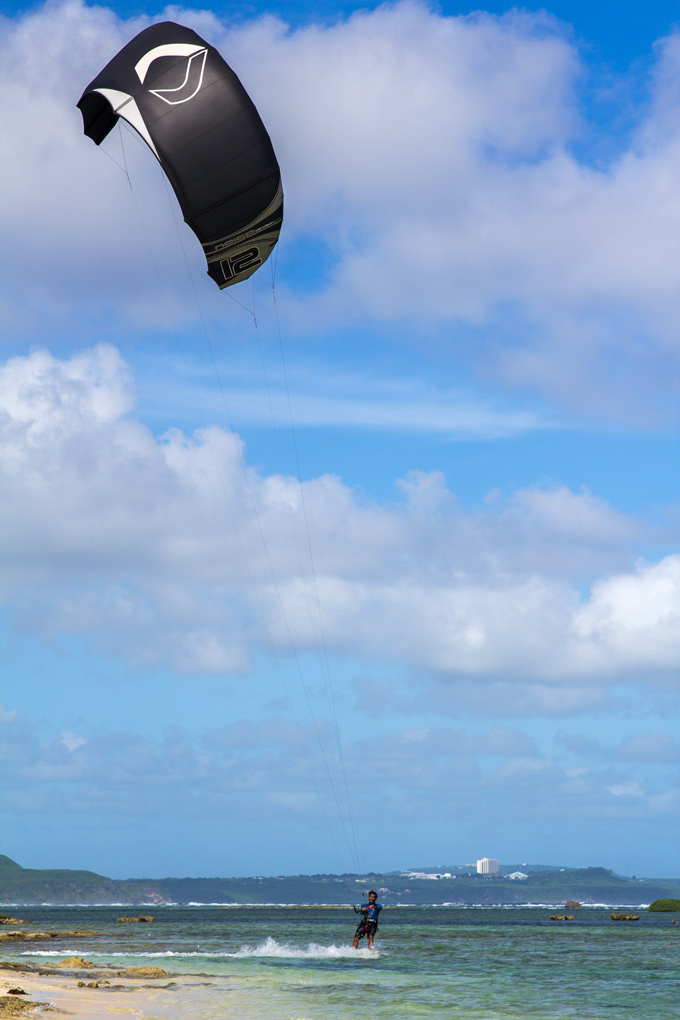 Kite surfer, Ipan Beach, Guam