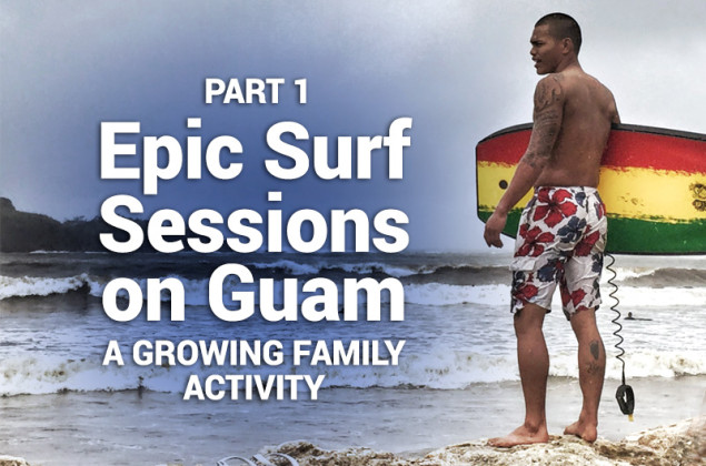 surfing on guam