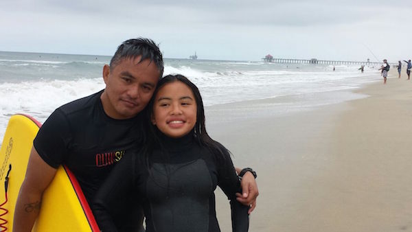 Father Daughter Surfers Guam