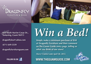 Win a bed from Dragonfly Furniture! Guam