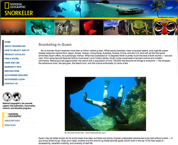 Screenshot National Geographic Guam Snorkeling