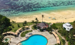 Pacific Star Resort Guam pool and Tumon Bay