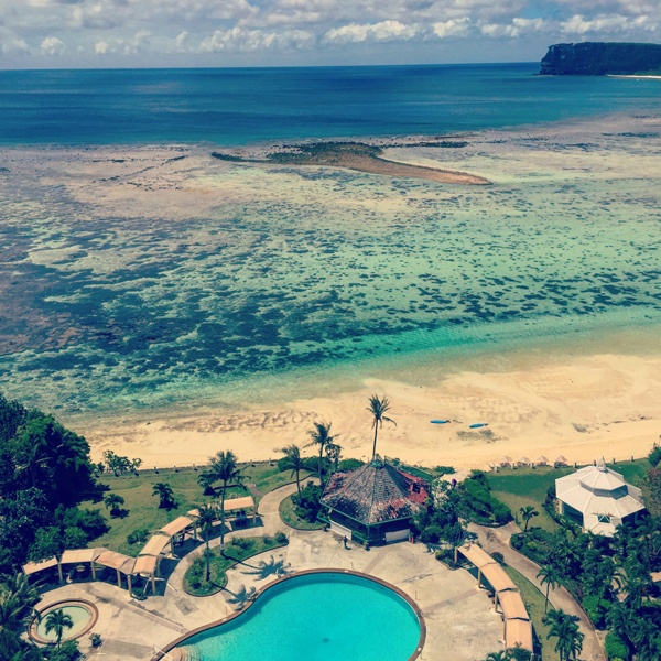 Pacific Star Resort pool and Tumon Bay, Guam