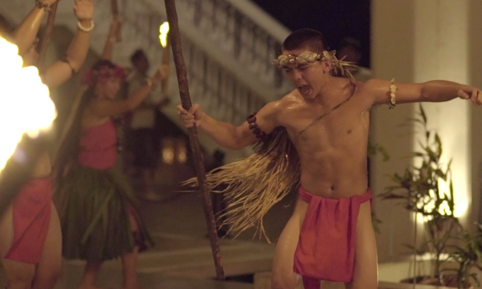 Pa'a Taotao Tano Dancer at Sheraton Laguna Resort, Guam