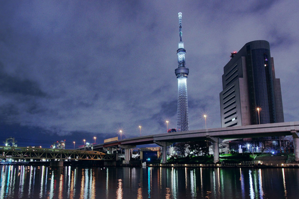 tokyo skytree at night, japan