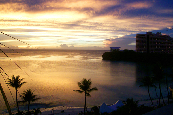 westin tumon bay guam sunset