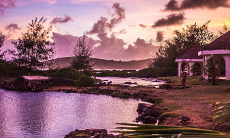 Dusk Inarajan Pools Beach Guam