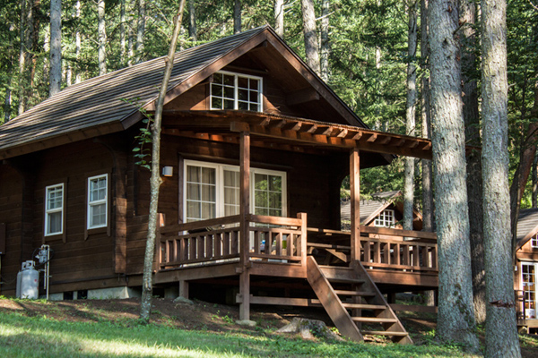 log cabin japanese alps, camp pica