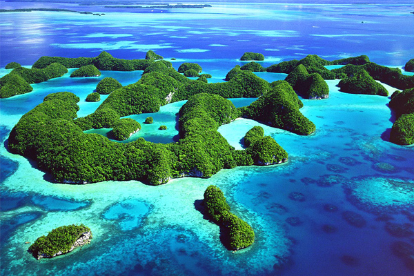 Palau Rock Islands Aerial view