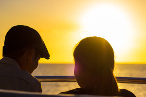 Sunset dinner cruise couple