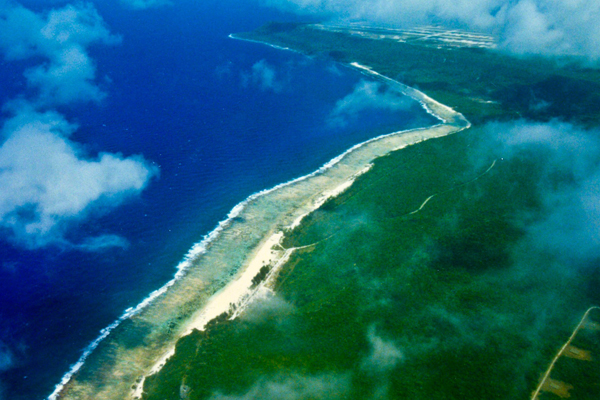 Aerial view of Tarague Guam