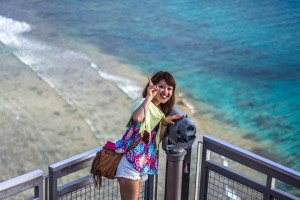 japanese girl on two lovers point guam