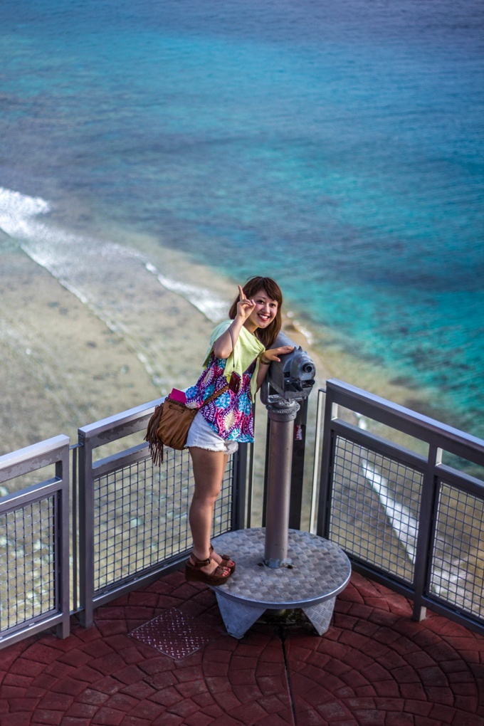 Japanese Tourist at Two Lovers Point, Guam