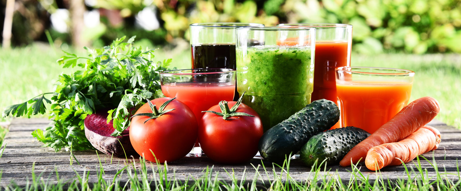 vegetables and smoothies