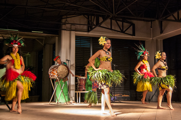 Female cultural dancers at Westin Guam