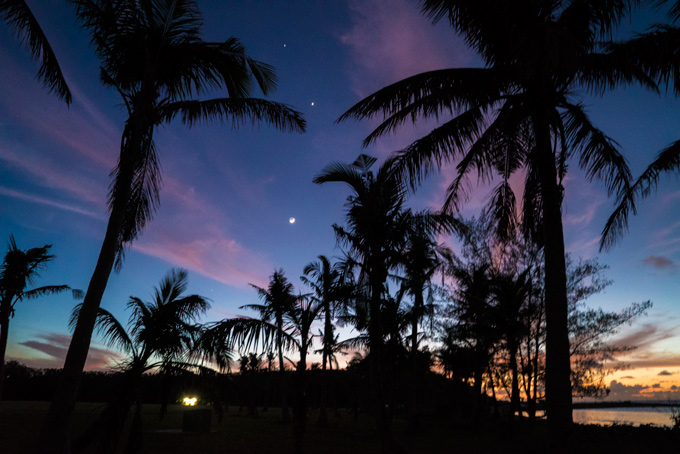 Night Asan Beach Park Guam