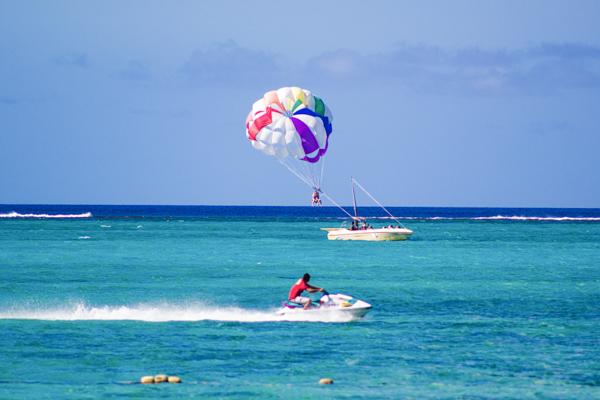 Cocos Island Resort Beach Parasailing Guam
