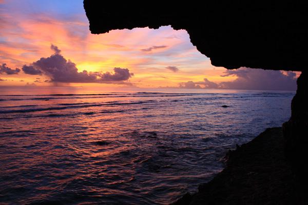 Sunset Gun Beach Guam