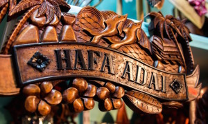 Hafa Adai Sign Chamorro Village Guam