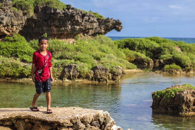 Kid Inarajan Pools Beach Guam