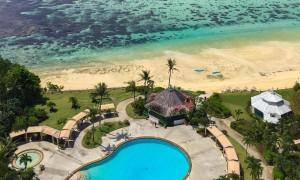 Pacific Star Resort Guam pool and Tumon Bay