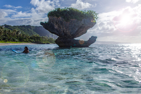Rock Flare Tanguisson Beach Guam