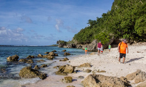 Hikers Tanguisson Beach Guam