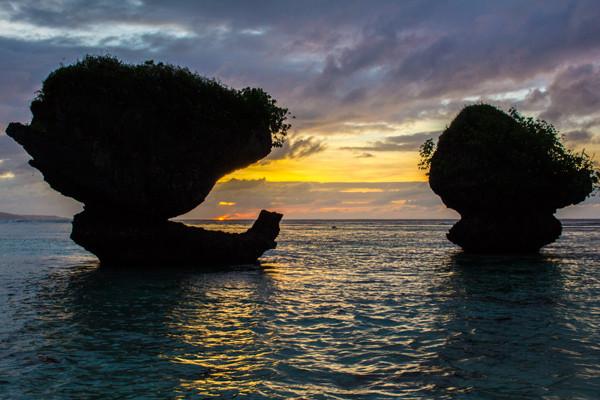 Sunset Tanguisson Beach Guam