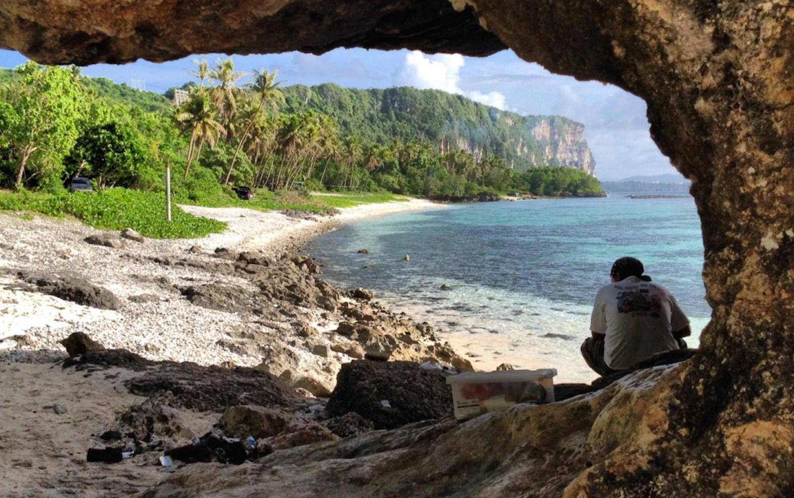 Rock Arch Tanguisson Beach Guam