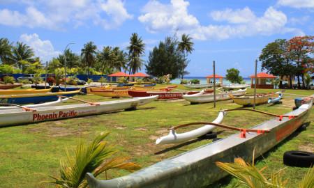 Canoes Matapang Beach Guam