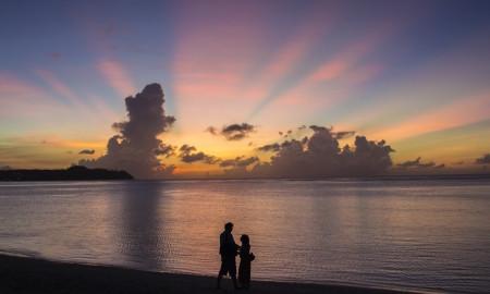 Tumon Westin Sunset Couple Guam