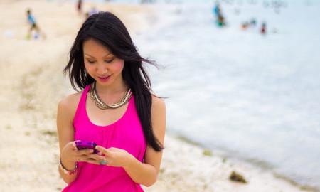 Woman on Tumon Bay, Guam