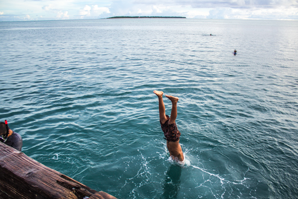Diver Merizo Pier Guam