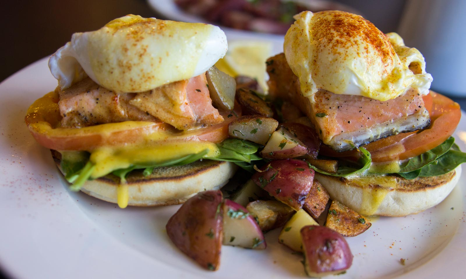 Salmon Benedict at Pika's Cafe, Upper Tumon