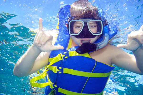 Snorkeling Girl Guam