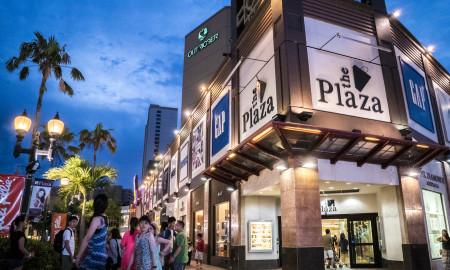 The Plaza Shopping Center Exterior Night Guam
