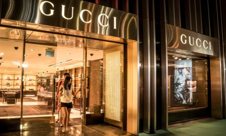 Gucci store front at The Plaza Shopping Center, Guam